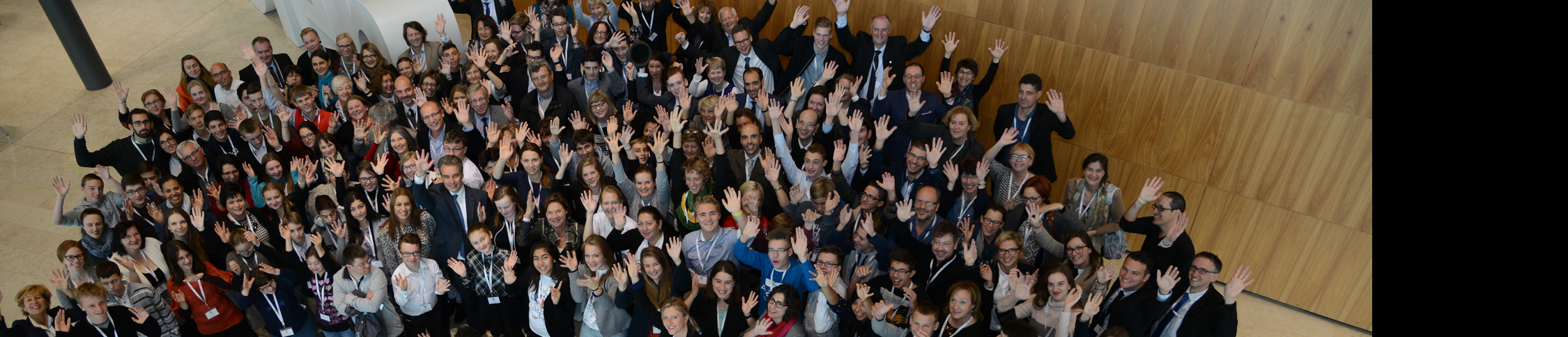 European Hearing participants in Luxembourg waving