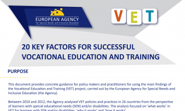 image of the 20 Key Factors for Successful Vocational Education and Training flyer