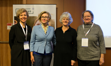 Agency representatives with Ms Marzena Machałek, Secretary of State of the Polish Ministry of National Education