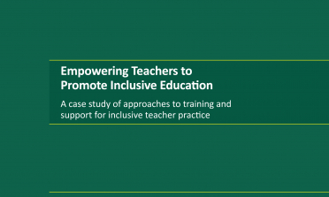 cover of the Empowering Teachers to Promote Inclusive Education report