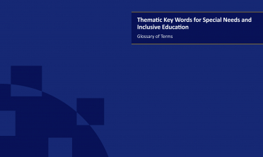 cover for the Thematic Key Words for Special Needs and Inclusive Education report