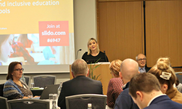 The Icelandic Minister of Education, Science and Culture, Lilja Alfreðsdóttir, opens the seminar