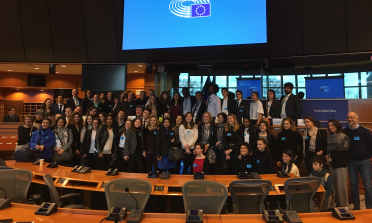 Participants in the Europe Begins in Lampedusa event at the European Parliament