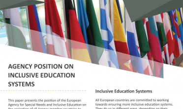 image of the Agency position on inclusive education systems flyer