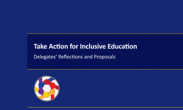 cover of the Take Action for Inclusive Education: Delegates' Reflections and Proposals