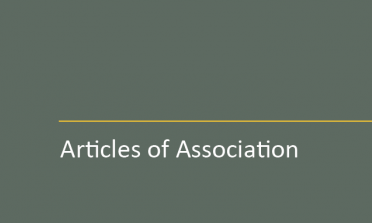 cover of the Articles of Association