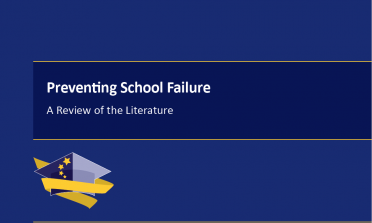 Cover of the Preventing School Failure literature review