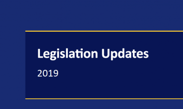 Cover of the Legislation Updates 2019 publication