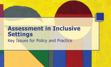 cover of the Assessment in Inclusive Settings – Key Issues for Policy and Practice flyers