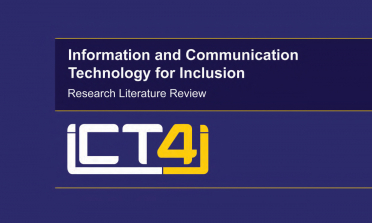cover for the Information and Communication Technology for Inclusion Research Literature Review