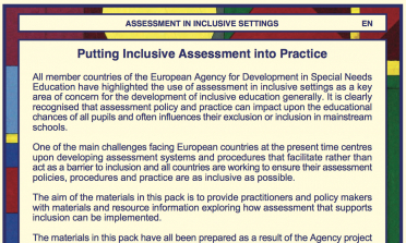 Putting Inclusive Assessment into Practice flyer