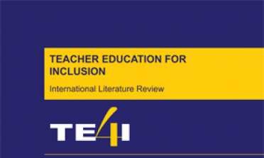 cover of the Teacher Education for Inclusion International Literature Review