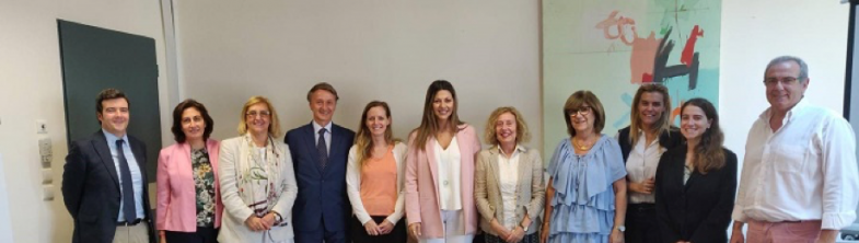 Representatives from the Agency and the SRSS meet Ms Sofia Zacharaki, Vice Minister of MERA