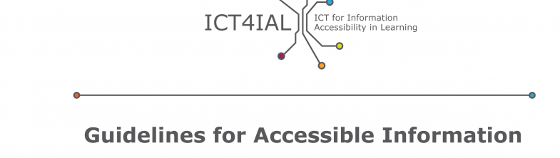 cover for the Guidelines for Accessible Information