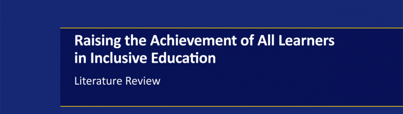 cover of the Raising the Achievement Literature Review