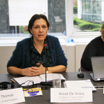 Annet de Vroey presents at the ETUCE Standing Committee for Equality conference