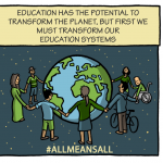 Education has the potential to transform the planet, but first we must transform our education systems. #allmeansall