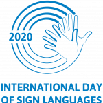 Logo: International Day of Sign Languages 2020