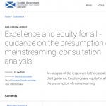 screenshot of the Scottish Government's website