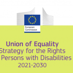 Cover of the Strategy for the Rights of Persons with Disabilities 2021-2030