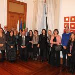 Members of the Cypriot and Portuguese delegations at the Embassy of the Republic of Cyprus in Lisbon
