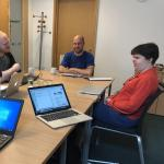 The testing group discuss the new MyAgency intranet
