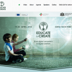 educate to create conference website screenshot
