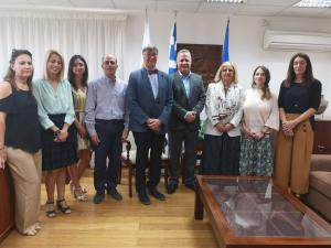The Agency and SRSS team in the Ministry in Cyprus