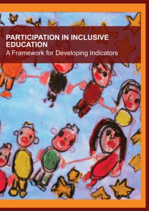 cover of the Participation in Inclusive Education – A Framework for Developing Indicators report