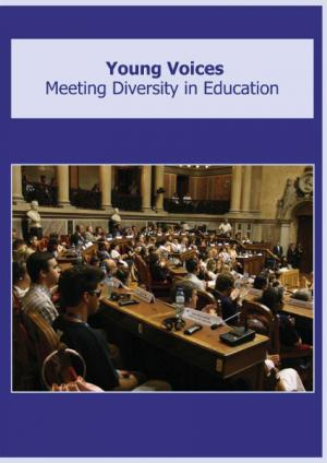 cover of the Young Voices: Meeting Diversity in Education report